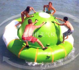 水上陀螺充气陀螺水上跳床充气水上玩具水上乐园水上玩具组合陀螺