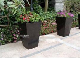 地产景观玻璃钢花箱 街道玻璃钢花盆 组合花池