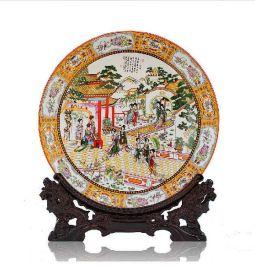 周年纪念盘,40周年纪念陶瓷盘