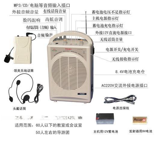 沛旺教學擴音器無線擴音器-PW801