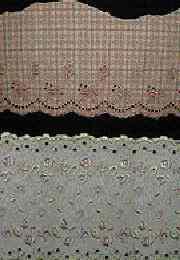 棉布条花刺绣