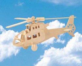 木制仿真模型拼板玩具-飞机
