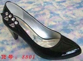 全牛皮中跟女皮鞋(8801)