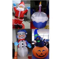 充气圣诞老人雪人万圣节气球气模