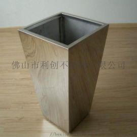 不锈钢艺术花瓶花盆容器不锈钢落地大花瓶