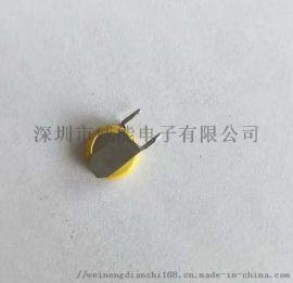 变光面罩专用焊脚CR2032纽扣电池