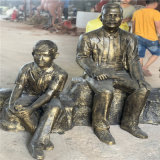 梅州玻璃钢迎宾人物雕塑 公园休闲小品雕塑