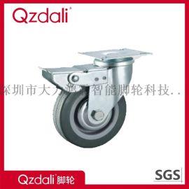 平板刹车铁芯灰胶橡胶脚轮