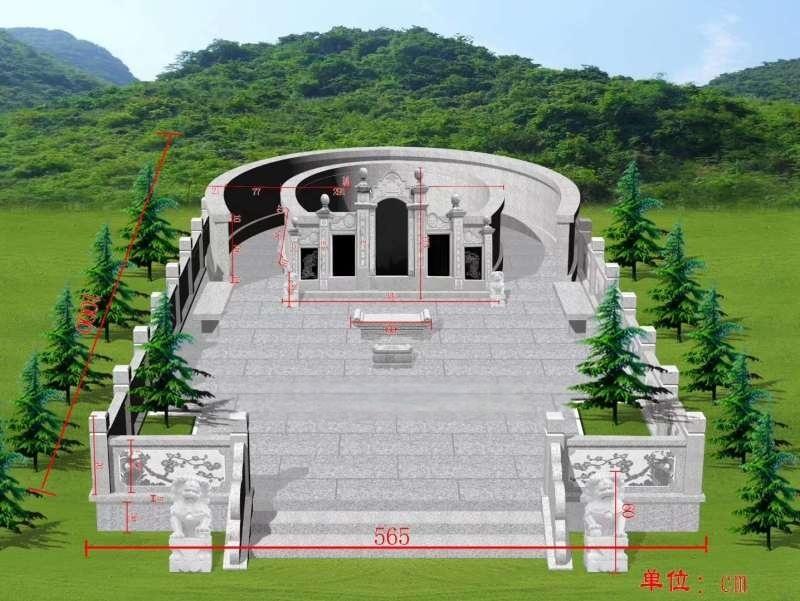 花岗岩墓碑 中式传统土葬家祖墓陵园墓碑 石碑刻字