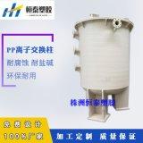 聚丙烯PP离子交换柱 离子交换树脂柱 塑料交换柱