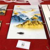 茶艺室背景墙山水画定制 美术馆背景墙山水画厂家