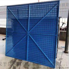 防护冲孔板网  外挑建筑爬架网