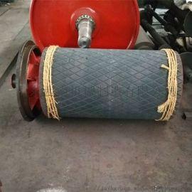 聚氨酯包膠傳動滾筒總成,一米皮帶機800傳動滾筒