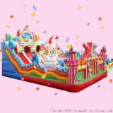 齊齊哈爾公園充氣城堡小朋友喜歡充氣蹦牀玩耍