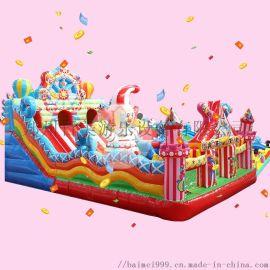 齐齐哈尔公园充气城堡小朋友喜欢充气蹦床玩耍