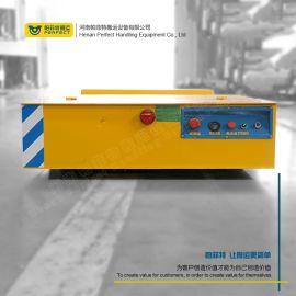 工业轨道平车电动平板四轮车 管道遥控铁轨电动搬运车