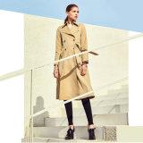 新款歐美風主流品牌女裝風衣 女裝摺扣分份批發
