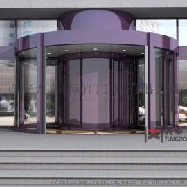 陕西旋转门|酒店环柱旋转门|西安水晶自动旋转门定制