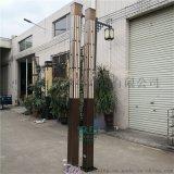 中式簡約景觀燈庭院公園小區方形燈仿雲石不鏽鋼路燈