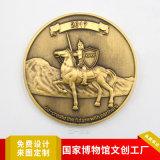 金属纪念币定制彩色烤漆纪念章制作企业周年庆徽章定做