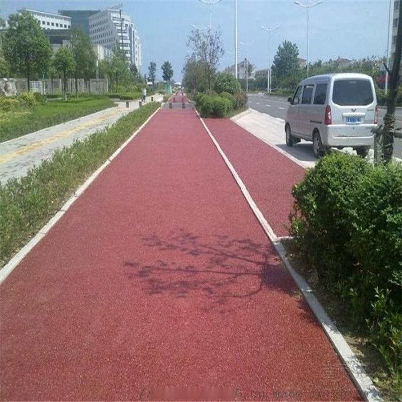 彩色透水地坪國家針對原城市道路的路面的缺陷開發而來