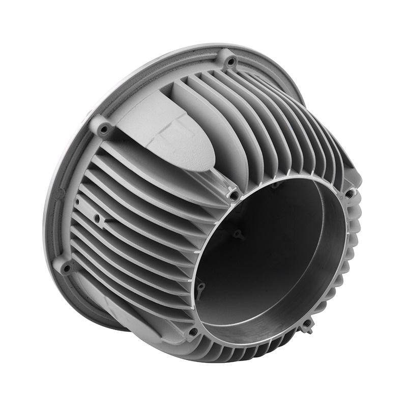 厂家直销铝合金压铸件,高精密防爆灯外壳散热器