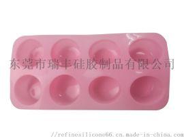 硅胶8孔椭圆肥皂模 手工皂模具 DIY硅胶蛋糕模