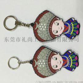 滴膠工藝鑰匙扣工廠 創意卡通人物造型鑰匙扣鑰匙鏈