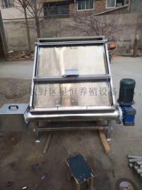养猪场猪粪鸡粪干湿固液分离机斜筛式养殖场环保设备