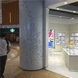 营销厅木纹造型包柱铝板 不规则异形包柱铝单板尺寸
