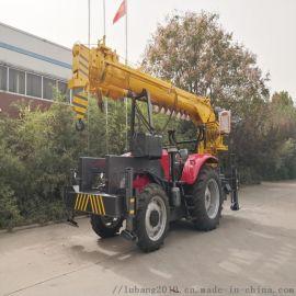 拖拉机吊车厂家 电线杆挖坑立杆一体机