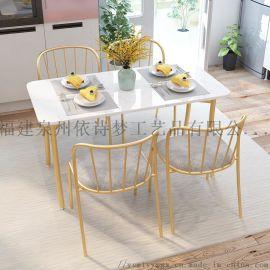 简约轻奢大理石餐桌椅组合