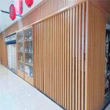 鸟笼造型木纹铝方管 动态背景墙铝方管