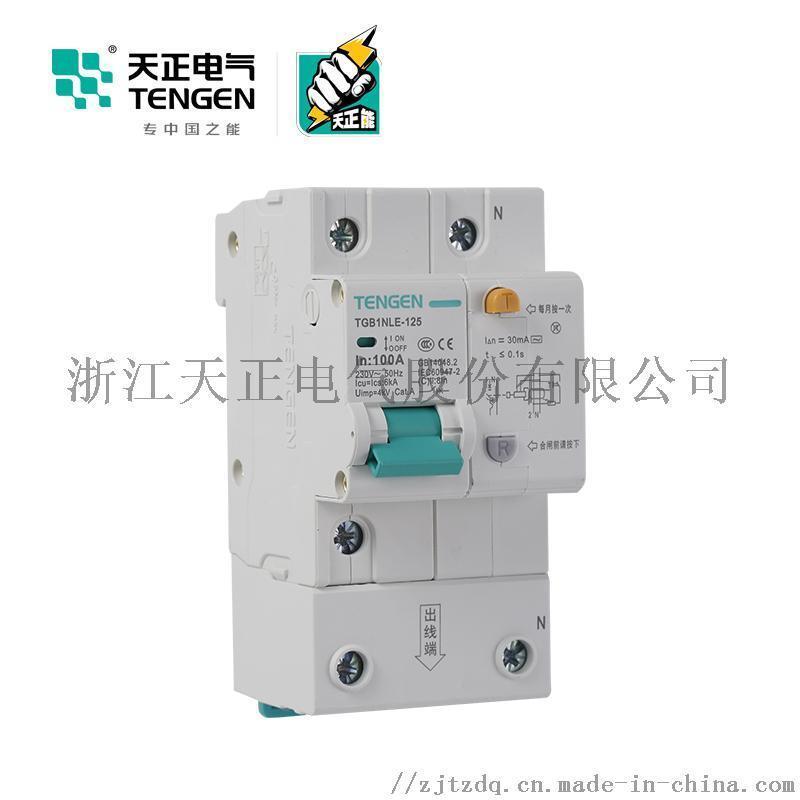 天正电气 空气开关 TGB1NLE-125 1P+N  C  63A-125A 30mA-300mA微型漏电保护断路器