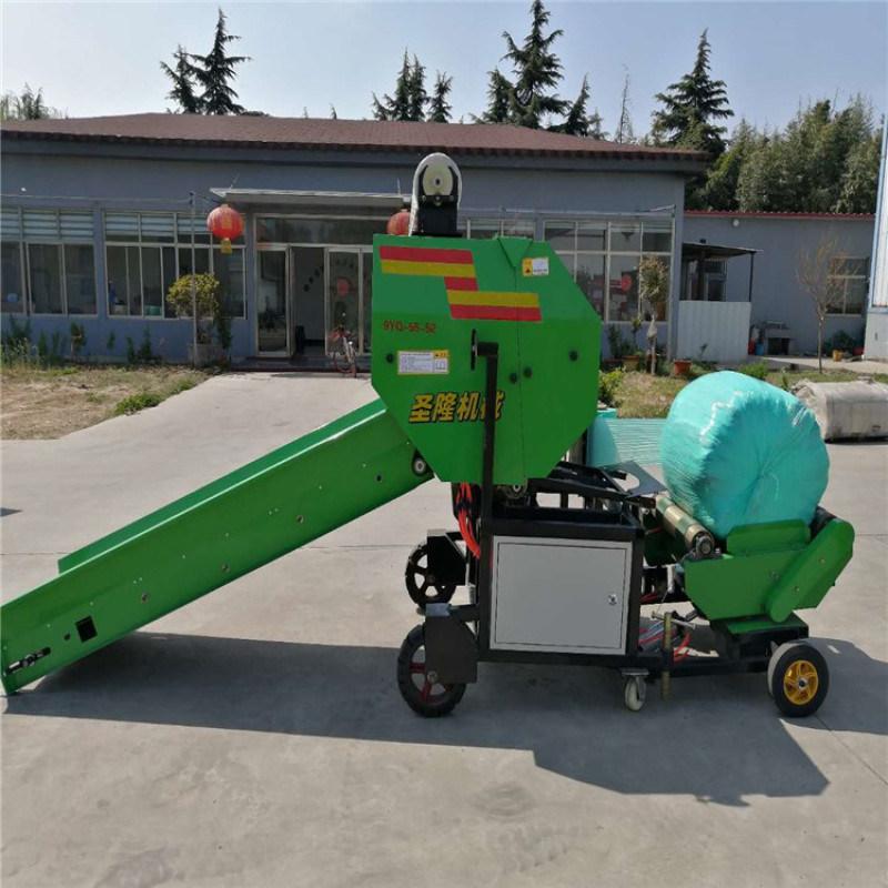 青储玉米秸秆打包机,玉米秸秆青储压块机