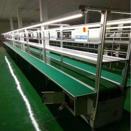 河南电子流水线定制厂家 防静电皮带线 PVC生产线