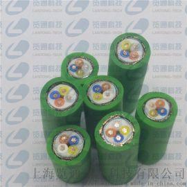 四芯绿色profinet工业以太网电缆网线