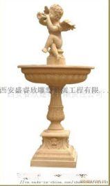西安雕塑厂承接喷泉水景雕塑砂岩喷泉玻璃钢花岗石喷泉