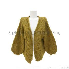冬秋保暖毛衣外套短款大码开衫女式KY-545