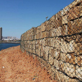 河滩加固石笼网 河道护坡铅丝笼 富海厂家直销