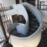 菲康楼梯铝板白色 2.0厚圆形楼梯铝单板