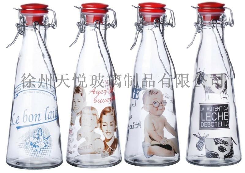 高白200-500ml玻璃奶瓶 江蘇玻璃奶瓶