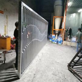 铝方管铆接背景墙屏风 展厅造型透光铝隔断背景墙