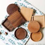 定制榉木杯垫木盖 方形 圆形木制咖啡杯垫