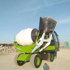 混凝土砂浆自动装载搅拌车 4立方自上料搅拌车