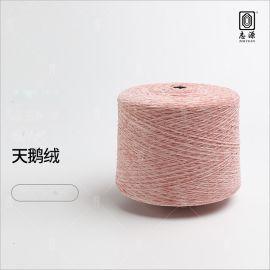 志源纺织大量批发2.3/4.5/6支全涤天鹅绒 手感柔顺亲肤雪尼尔纱线