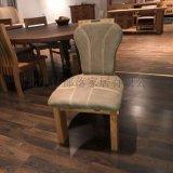 西部牛仔骑士系列北欧艺家风家具实木餐椅