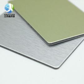 鋁塑復合板 拉絲復合鋁塑板 銀拉絲金屬內外牆裝飾