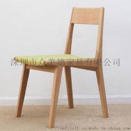 简约实木餐椅,餐饮甜品店休闲椅靠背椅