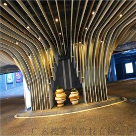 酒店弧形吊顶铝方通,型材弧形铝方通,型材铝方通拉弯